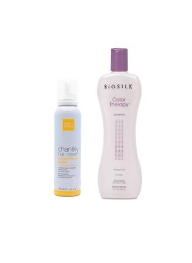 Biosilk Biosilk Color Therapy Şampuan 355 Ml+Milk Shake Durulanmayan Bakım Köpük 150 Ml Renksiz